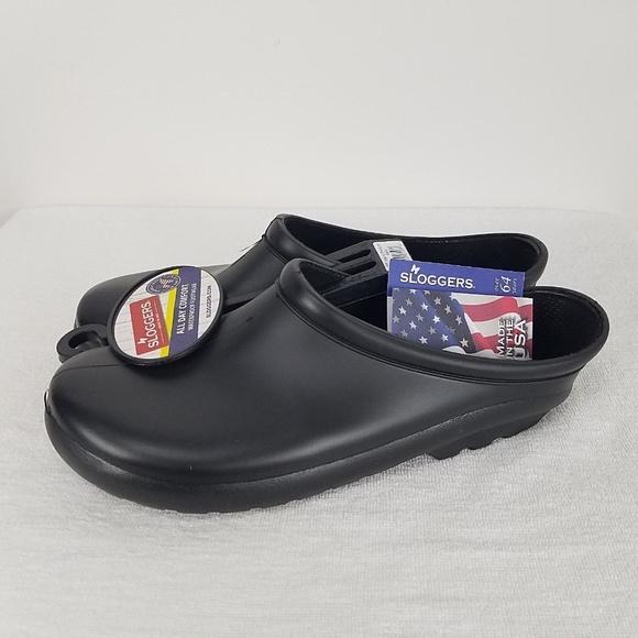 bd30388ee981e Sloggers Men's Premium Garden Clog Black Size 11us NWT